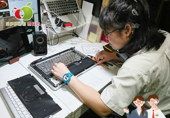 16歳JK Macbook 2011 キーボード水没故障修理店