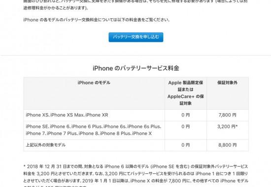 急げ!Apple iPhoneバッテリー交換3,200円はあと15日間だけ